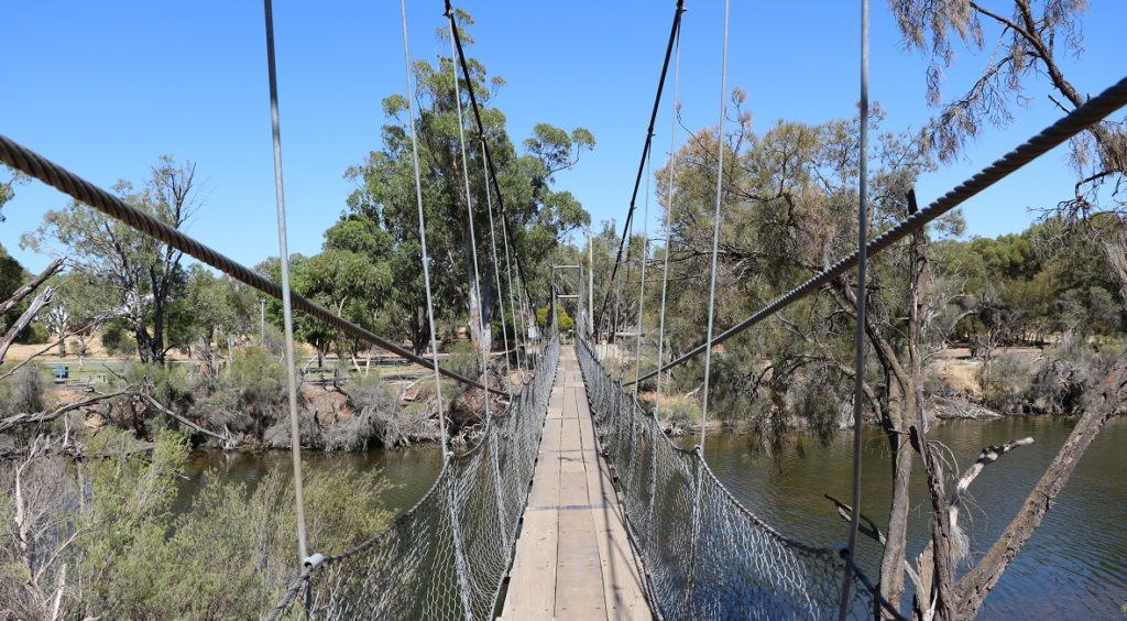 Pedestrian bridge in York, Western Australia